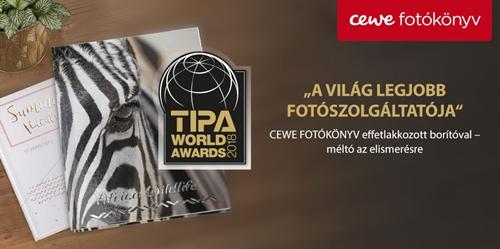 """Képtalálat a következőre: """"Cewe TIPA World Awards 2018 """"Best Photo Print Service"""""""